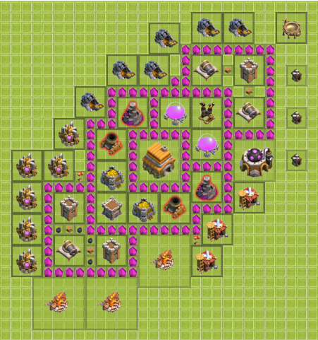 Clash of clans hdv 6 village parfait