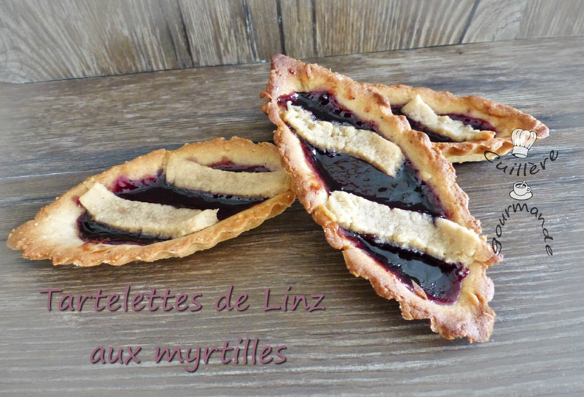 Tartelette de Linz version myrtilles