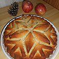 Gâteau aux pommes et mascarpone.