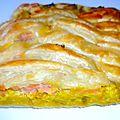Tresse feuilletée saumon poireaux et mascarpone