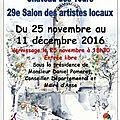 Salon d'hiver des artistes locaux