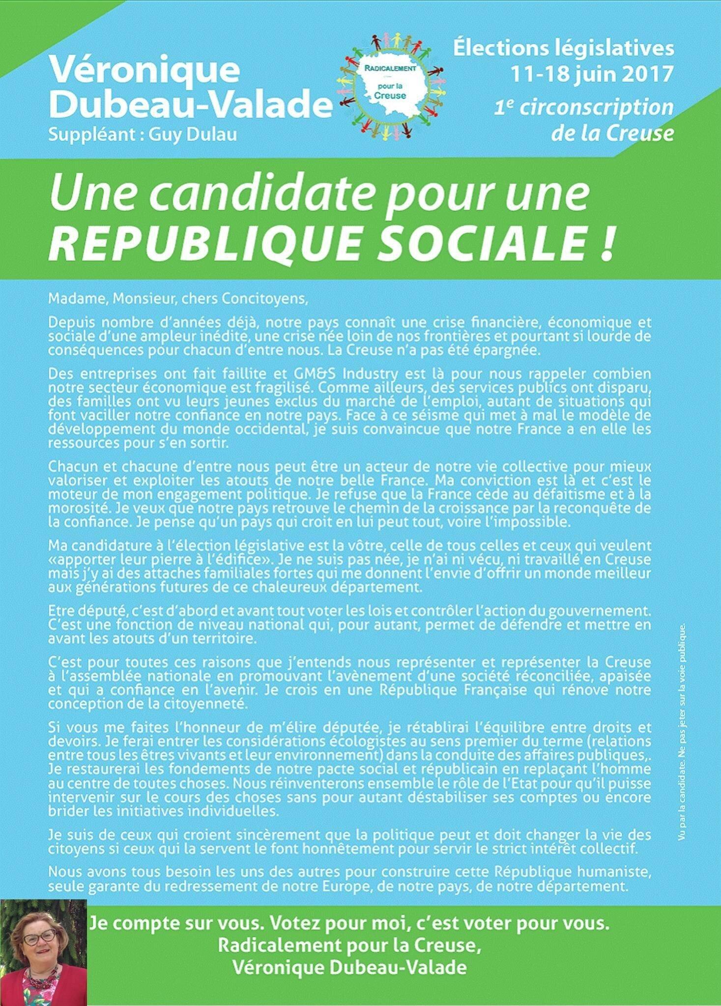 Pour une république sociale ...