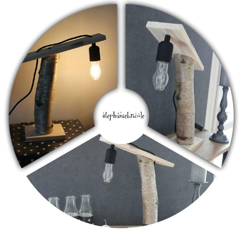 DIY LAMPE BOULEAU