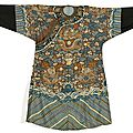 Robe de cour, chine, dynastie qing, période guanxgu (1875-1908)