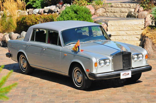l 39 ancienne rolls royce silver wraith ii de lady di vendre cpa g n ration automobile. Black Bedroom Furniture Sets. Home Design Ideas