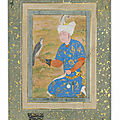 A kneeling prince, bukhara, late 16th century and mughal india, 17th century