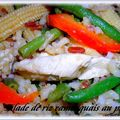 Salade de riz camarguais au poulet