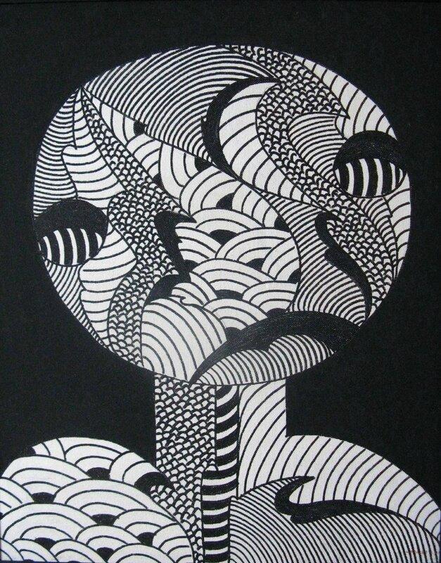LABELLE Tête martienne 1991 82 x 65