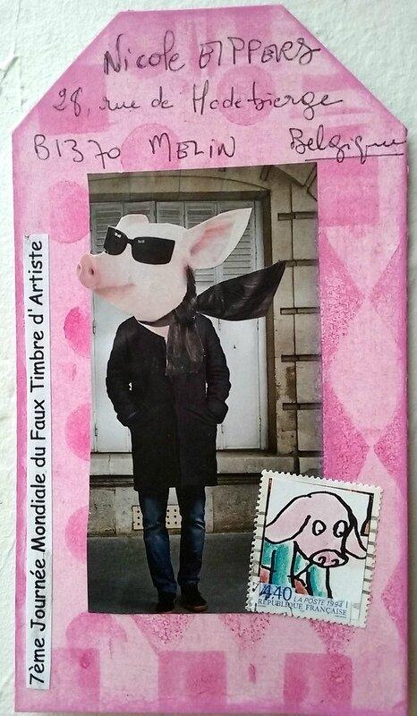 7JMFTA mailart cochon Piggy