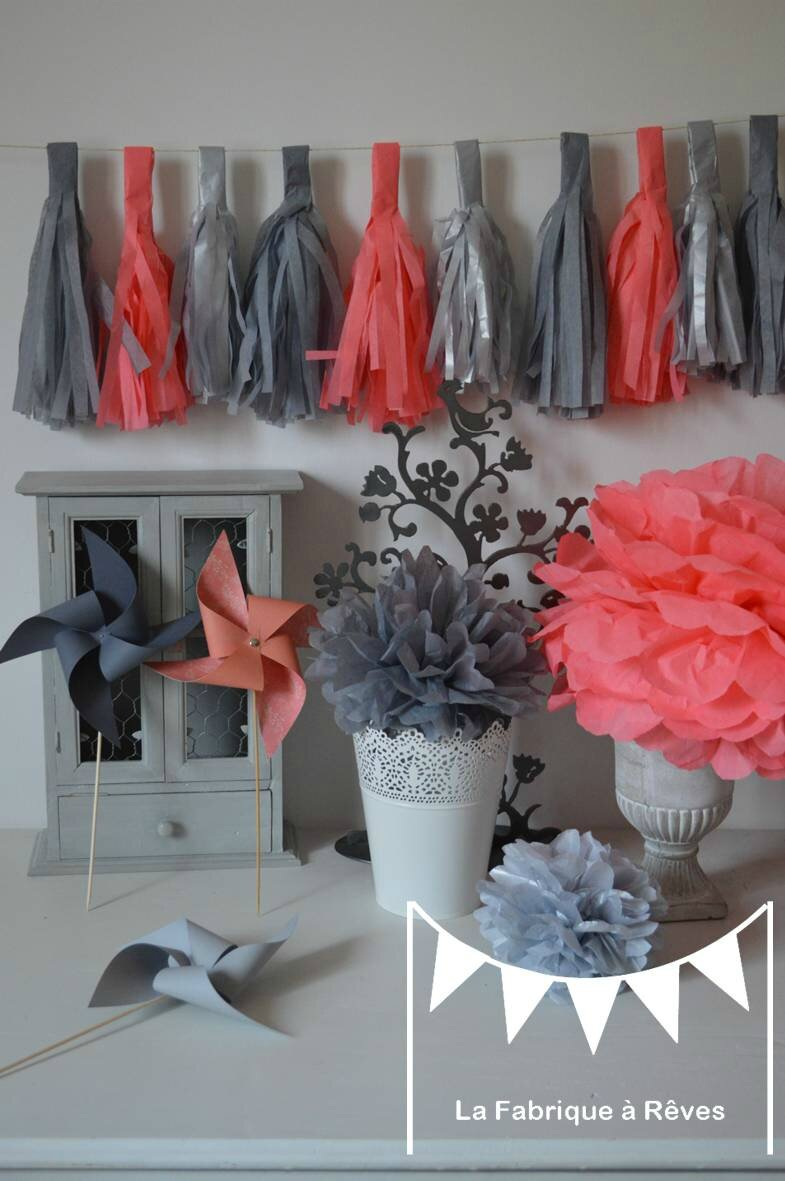 decoration bapteme corail