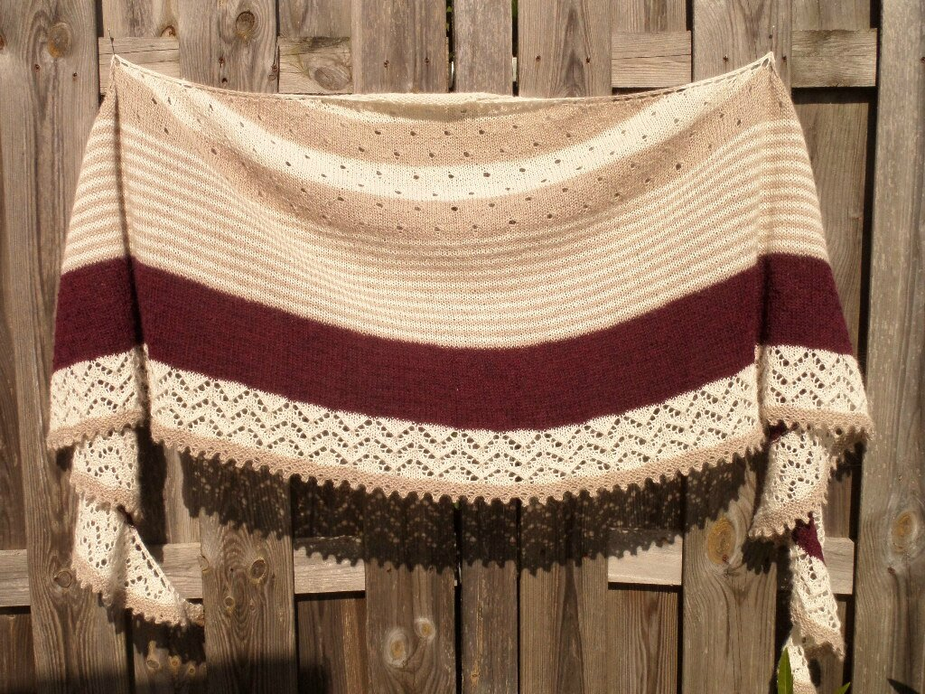 3 colors cashmere shawl