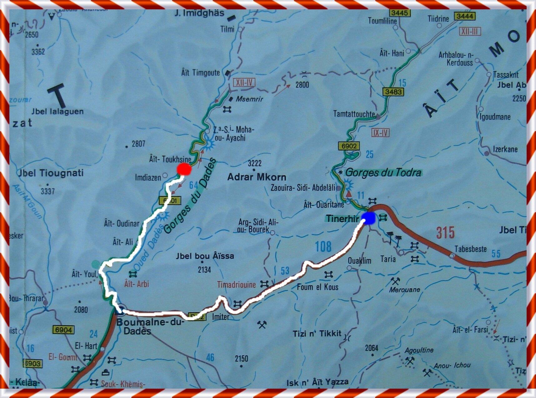 carte - La grande aventure au Maroc (paysage,carte,peuple,insolite,nature) 106835596_o