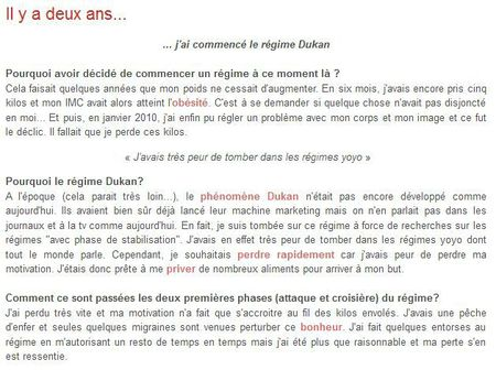 Extrait article dukan