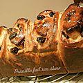 Brioche rosaces aux cranberries et pépites de chocolat (recette et tour de main)