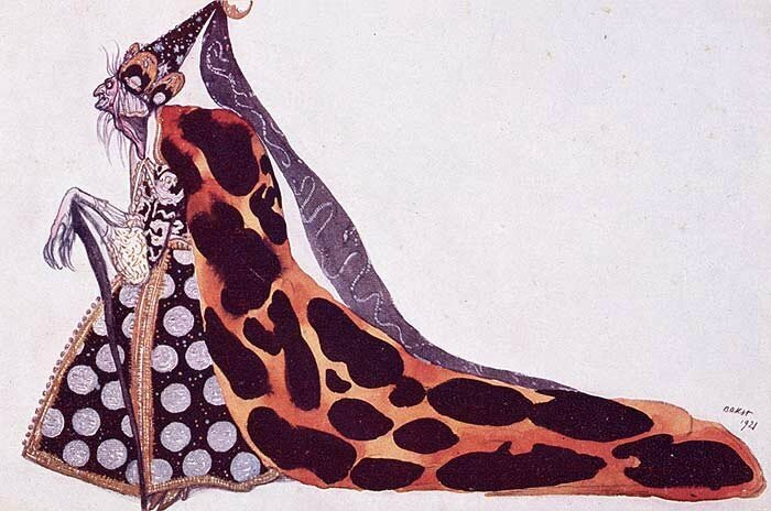 The bad fairy Carabosse by Léon Bakst