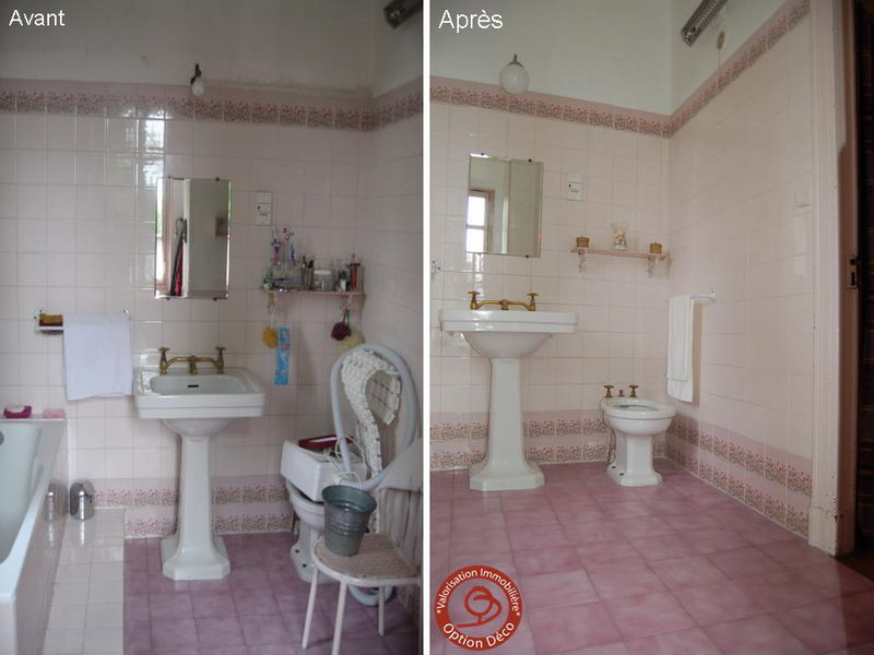 Salle de bain avant apr s photo de home staging avant for Salle de bain home staging