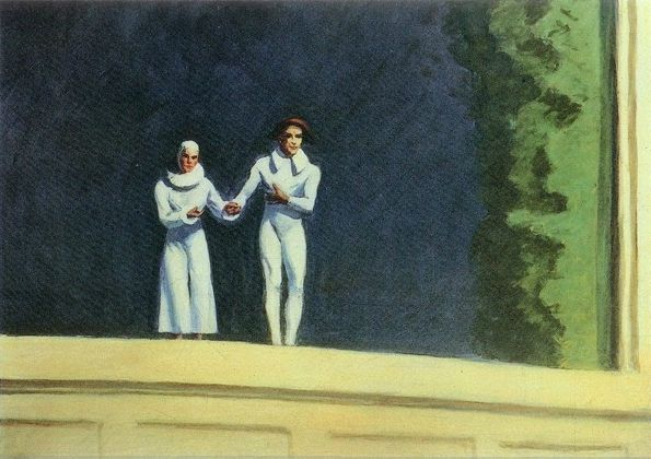 two comedians 1966 Hopper