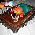 Gâteau d'anniversaire: garfield