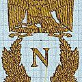 Broderie machine : emblème napoleon