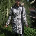 Manteau noir et blanc