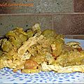 Sauté de poulet curry et cannelle