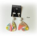 Boucles d'oreille hidden magic multicolor encre pinata Bo37 2014