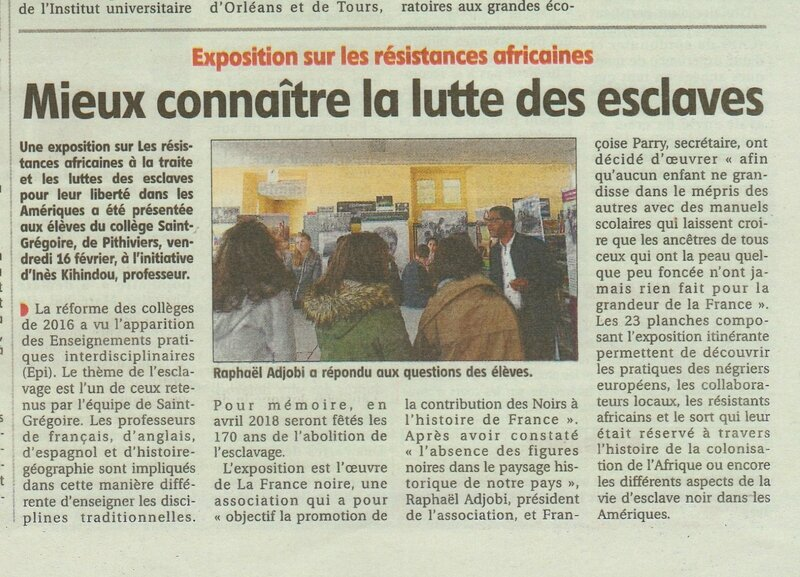 Article Le Courrier du Loiret 001