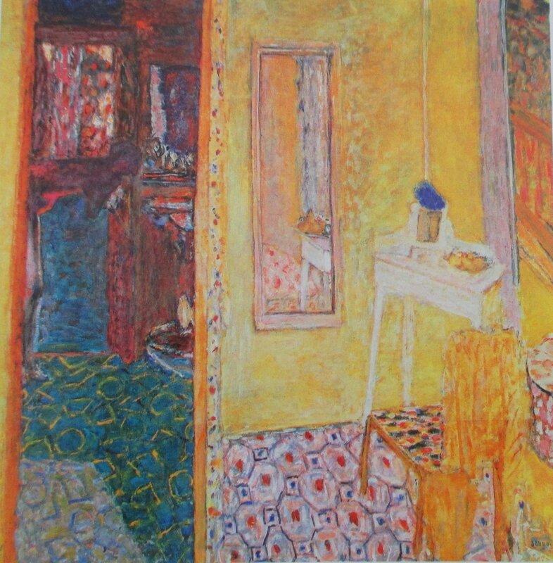 Intérieur au Cannet avec femme à la toilette 1938-1943