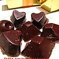Chocolats noirs de noël 2011