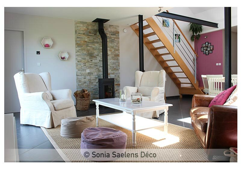 une pi ce de vie chaleureuse et familiale sonia saelens d co. Black Bedroom Furniture Sets. Home Design Ideas