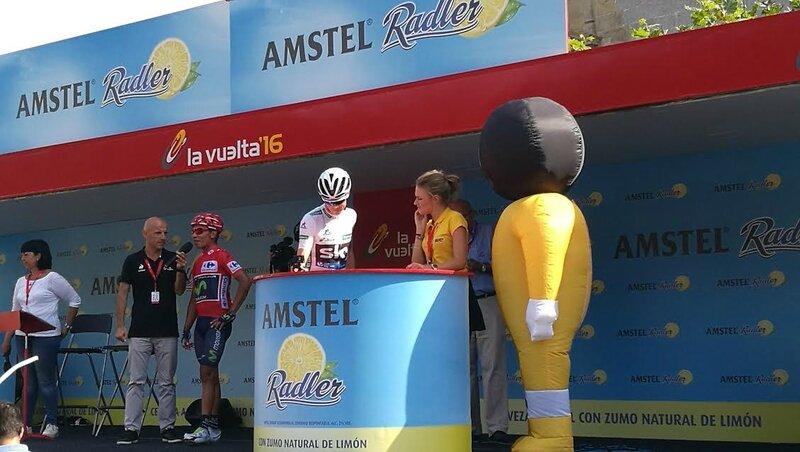 Urdax, départ de la Vuelta 2016, Froome et Quintana (Espagne)