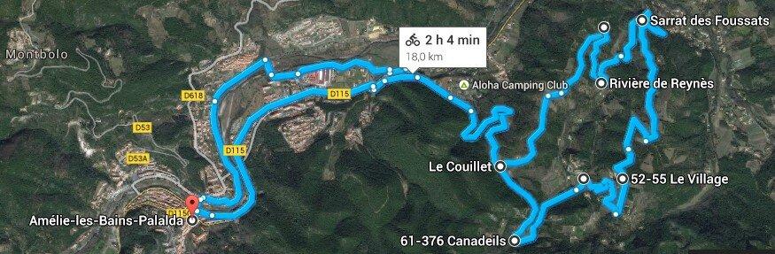 Autour de Reynès (1) Balade entre route et piste