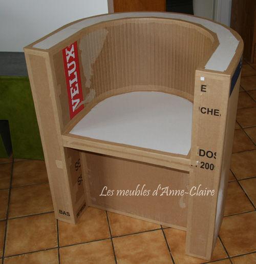 Trois jours entiers faire du carton le r ve les - Tuto meuble en carton patron ...