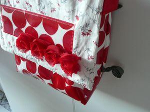 Sac rouge à fleurs (2)