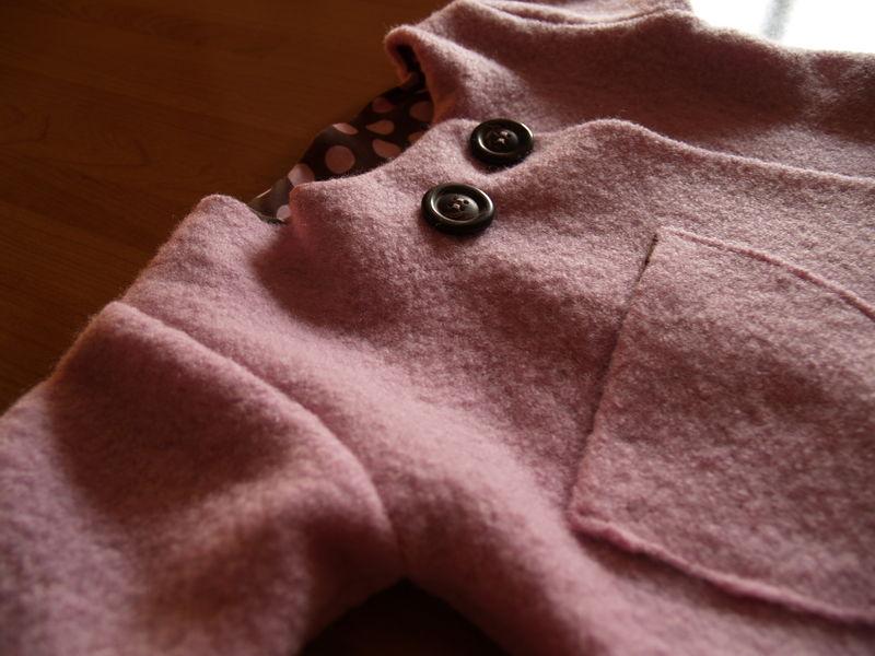 Manteau en laine bouillie des IBB