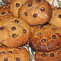 Cookies  la farine de chataigne fourrs au nutella