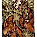 Portrait de mathieu chevauchant hiko sur les terres de saint-marcellin du mordor