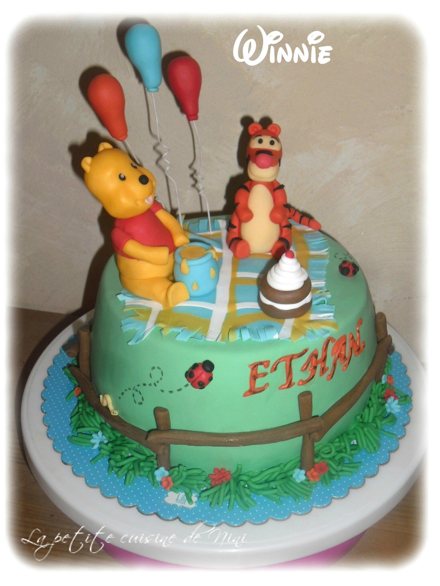 Préférence Gâteau Winnie l'ourson pour l'anniversaire de mon filleul - La  BO39