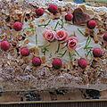 Gâteau d'anniversaire framboise - citron vert