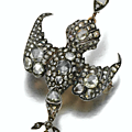 A diamond bird pendant, early 19th century.