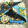 Boîte en tissu réversible avec lien