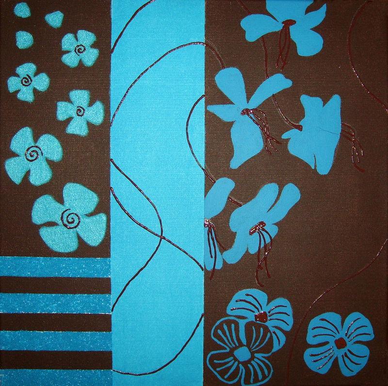 Les cr ations d 39 emie for Peinture bleu turquoise