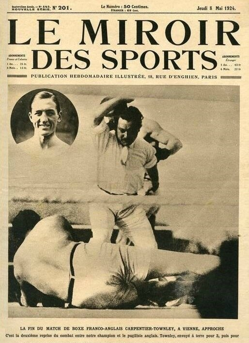 Georges Carpentier Le Miroir des Sports 8 mai 1924