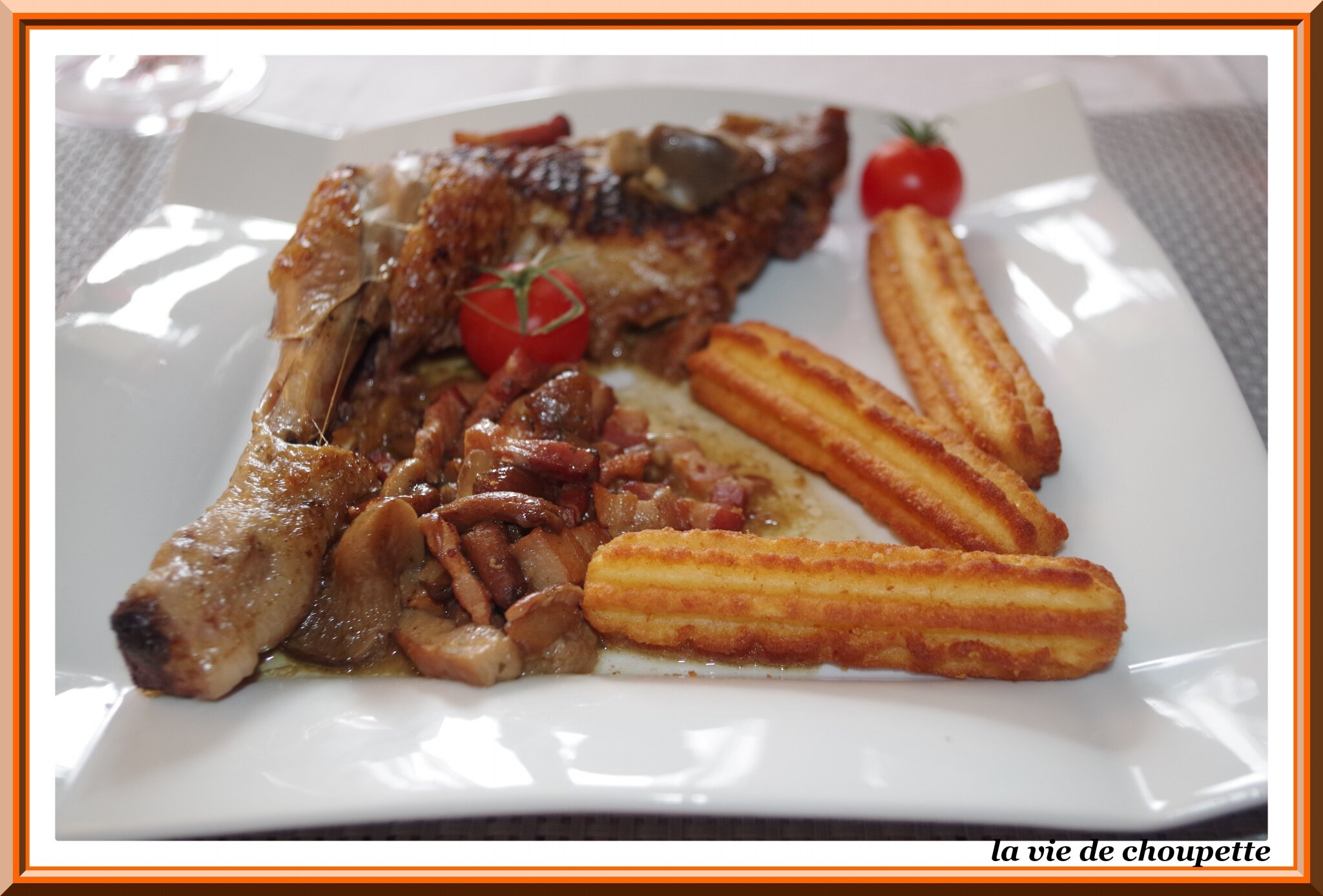 FRICASSEE DE POULET AUX GIROLLES