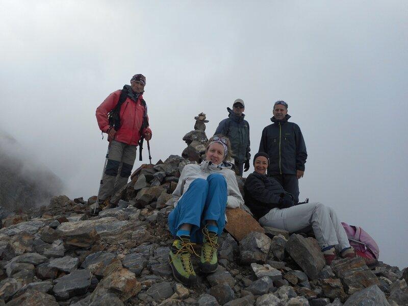 Notre équipe au sommet du Grand Tapou