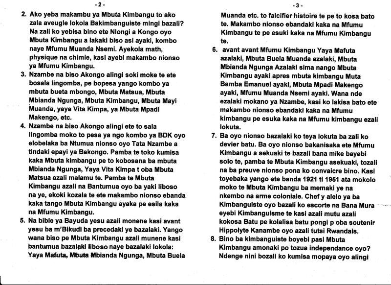 LE GRAND MAITRE MUANDA NSEMI PARLE AUX KIMBANGUISTES EN RDC b