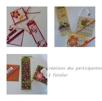 atelier stampin up marque pages