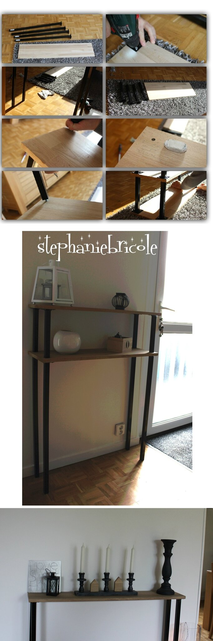 Diy d co faire un meuble console au style industriel soi for Deco industrielle pas cher