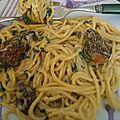 Le printemps apporte sur nos étals les morilles : spaghettis sauce crémeuse aux morilles