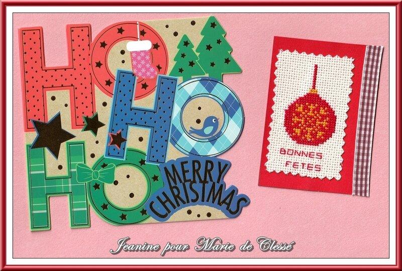 Échange ATC (Décembre) Chez Miou (Boules de Noël) Jeanine pour Marie de Clessé2
